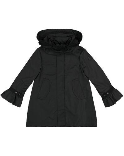 Czarny płaszcz Moncler Enfant
