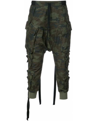 Зауженные брюки цветные камуфляжные Unravel Project
