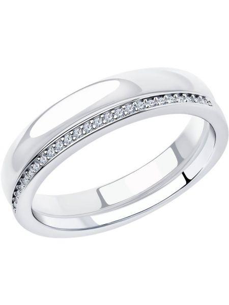 Кольцо из серебра с фианитом Sokolov
