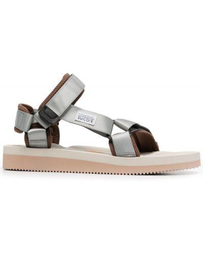 Sandały peep toe - beżowe Suicoke