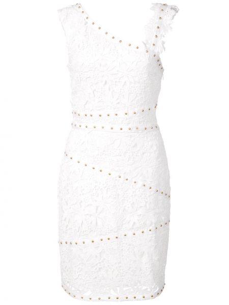 Ажурное платье - белое Nicole Miller