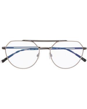 Черные очки авиаторы металлические Lacoste