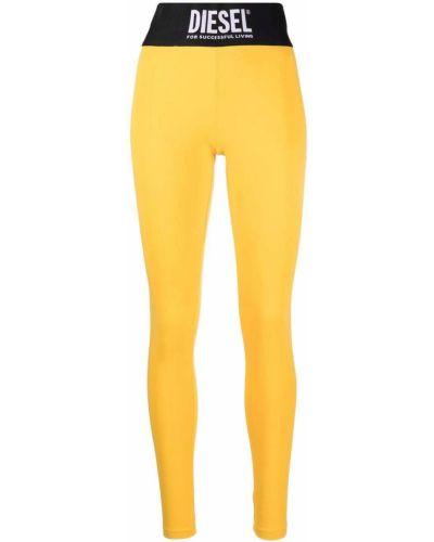 Legginsy - żółte Diesel