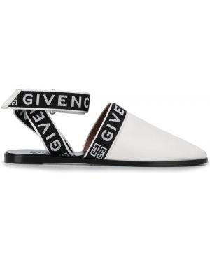 Muły biały nowoczesny Givenchy