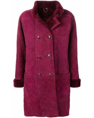 Стеганое пальто - фиолетовое Yves Saint Laurent Vintage