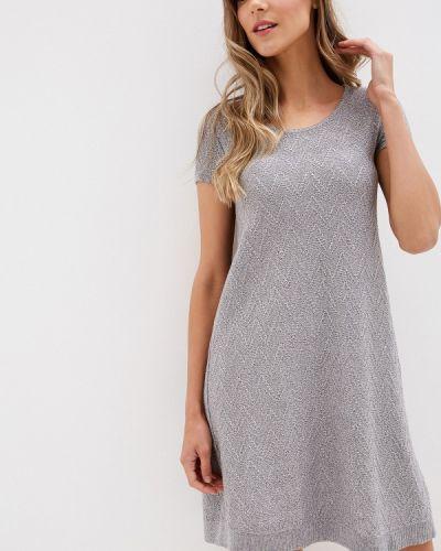 Платье серое прямое Olesya Zubova