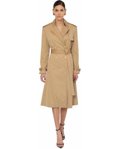 Płaszcz z paskiem bawełniany klamry Versace