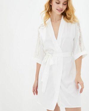 Домашний белый ажурный халат Mianagreen