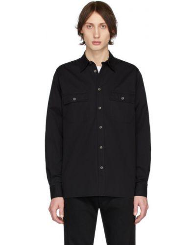 Czarna koszula bawełniana z długimi rękawami Norse Projects
