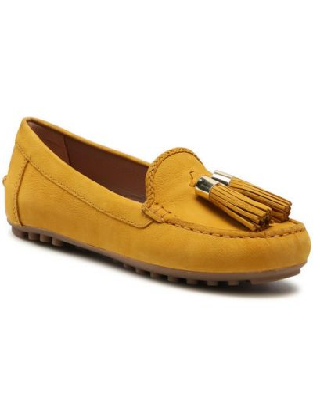 Mokasyny - żółte Geox
