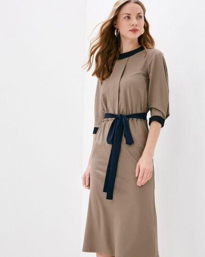 Коричневое повседневное платье Tutto Bene