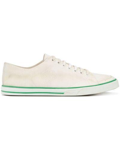 Белые кроссовки на шнуровке Balenciaga