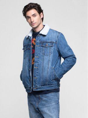 Niebieski kurtka jeansowa Vistula