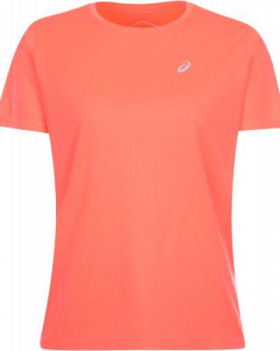Оранжевая прямая футболка Asics
