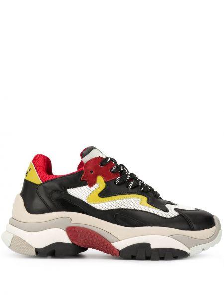 Кожаные кроссовки с логотипом с заплатками Ash