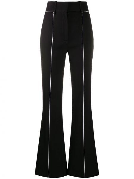 Rozbłysnął czarny wełniany szerokie spodnie z kieszeniami Givenchy
