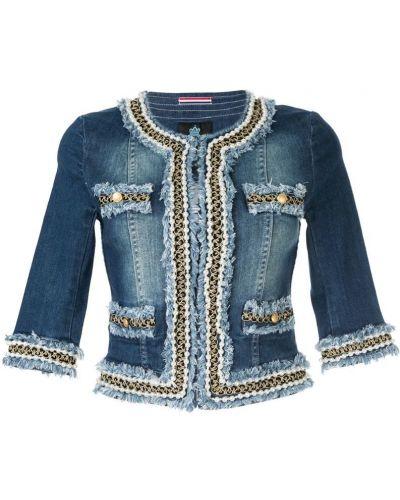 Синяя джинсовая куртка с бахромой на пуговицах Guild Prime