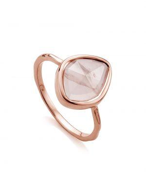 Кольцо с кварцем - розовое Monica Vinader