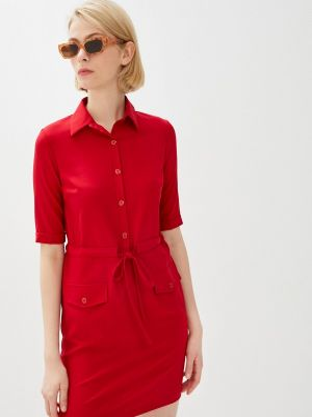 Платье - красное Leotex