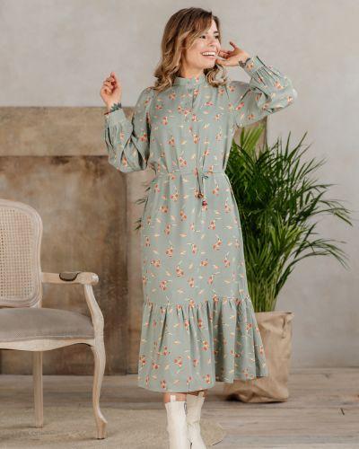 Платье с поясом с оборками Azuri