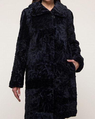 Пальто из овчины - синее Dzhanbekoff