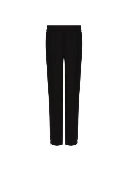 Шерстяные черные со стрелками укороченные брюки на молнии Paul&joe
