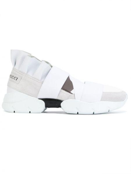 Biały skórzany sneakersy Emilio Pucci