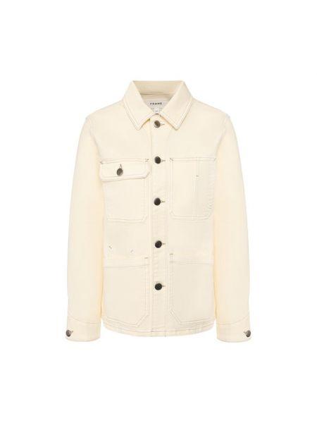Хлопковая джинсовая куртка - белая Frame Denim
