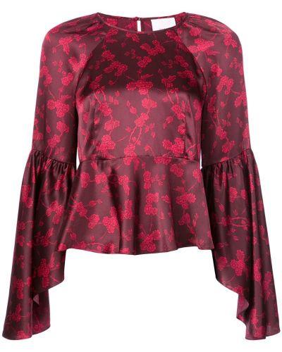 Блузка с длинным рукавом красная Cinq A Sept