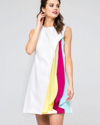 Прямое белое платье Yulia'sway