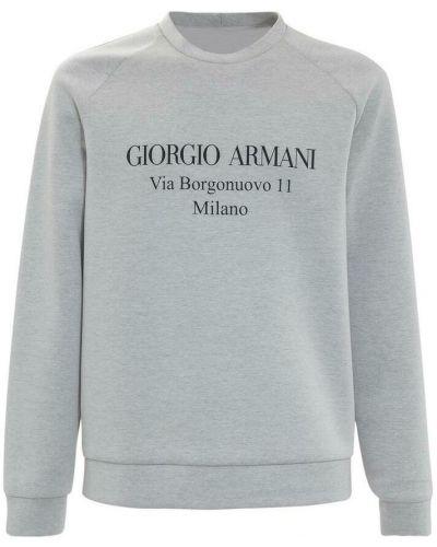 Szara bluza dresowa Giorgio Armani
