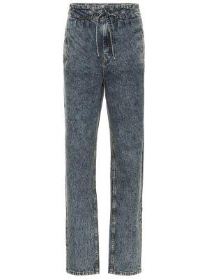 Bawełna prosto bawełna niebieski jeansy na wysokości Isabel Marant