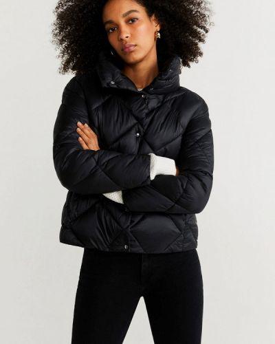 Утепленная куртка демисезонная черная Mango
