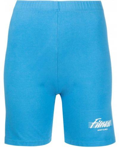 Синие укороченные шорты для фитнеса для фитнеса Sporty And Rich