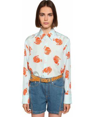 Классическая рубашка на кнопках под запонки Lanvin