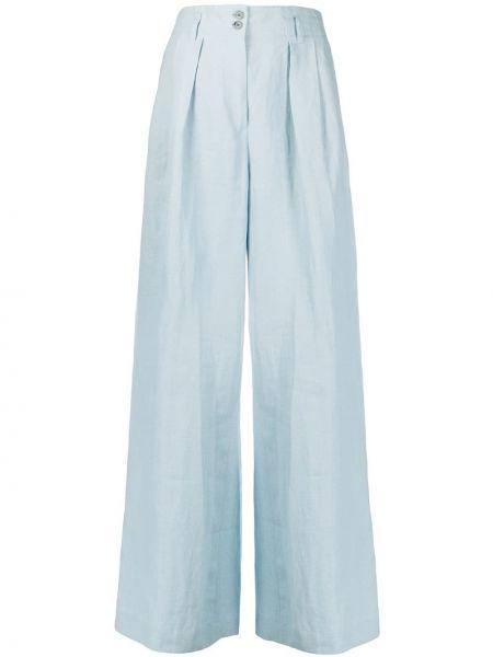 Синие брюки с карманами свободного кроя Paul Smith