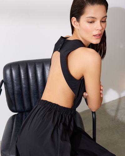 Черное платье с поясом с открытой спиной 12storeez