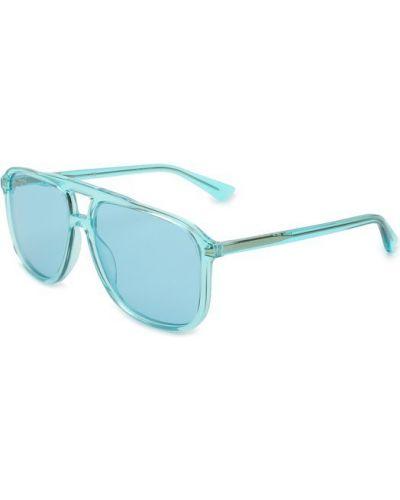 Бирюзовые солнцезащитные очки Gucci