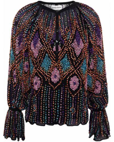 Bluzka z wiskozy - czarna Antik Batik