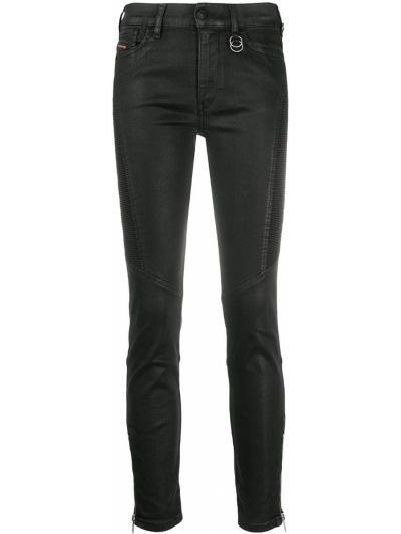 Укороченные зауженные джинсы - черные Diesel