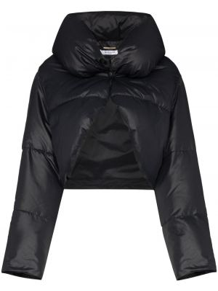 Черный пуховик с воротником на кнопках Givenchy