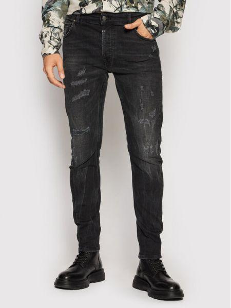 Czarne mom jeans Tigha