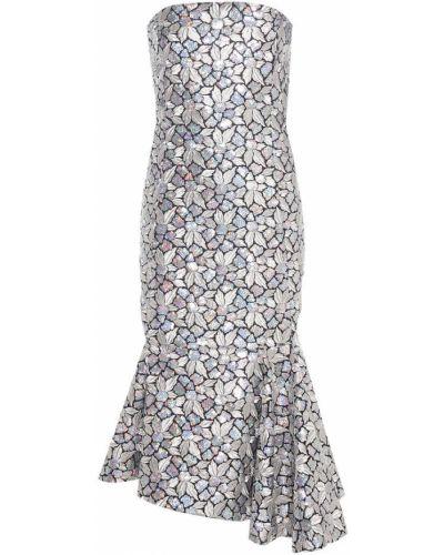 Платье с пайетками с вышивкой Balenciaga