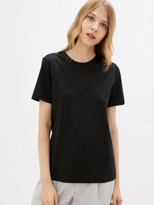 Черная весенняя футболка элис
