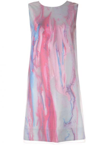 Платье трапеция - синее Paskal