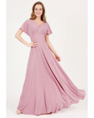 Повседневное платье розовое весеннее Marichuell