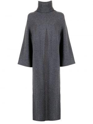 Трикотажное платье миди - серое Joseph