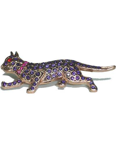 Фиолетовая брошь с камнями Amaro