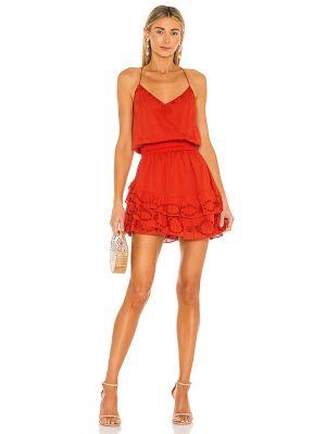 Хлопковое красное платье мини с подкладкой Karina Grimaldi