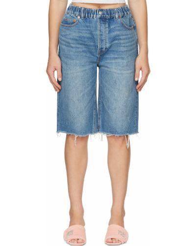 Джинсовые шорты - синие Alexander Wang